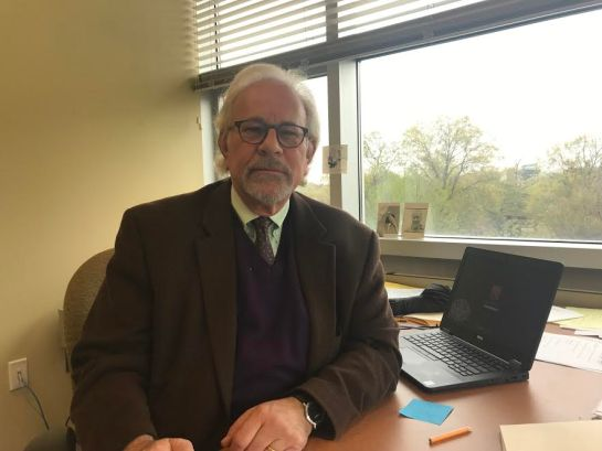 Dr. Richard Katz in his office. Credit: Gail Fredricks
