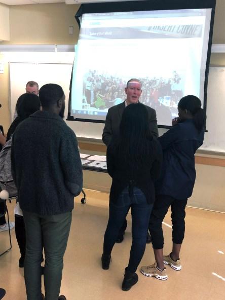 Brian Murphy speaking to kean students. Credit: Evan Hewitt