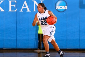Miesha Bacon dribbles up the court. Credit: Larry Levanti