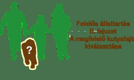 Felelős állattartás II. Fejezet – A megfelelő kutyafajta kiválasztása