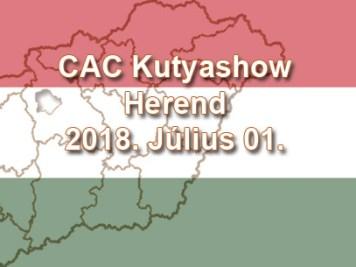 CAC Kutyashow – Herend – 2018. Július 01.