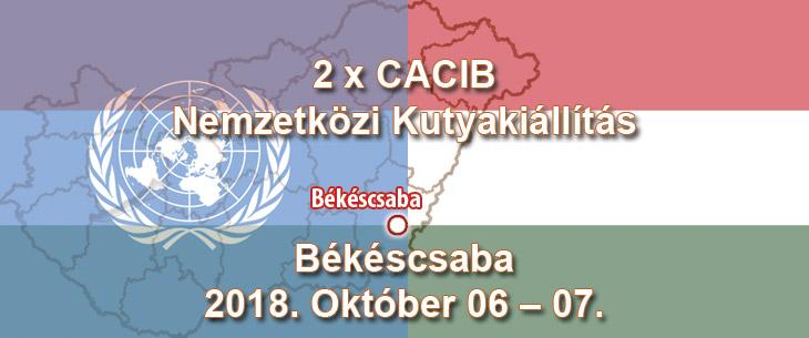 2 x CACIB Nemzetközi Kutyakiállítás – Békéscsaba – 2018. Október 06 – 07.