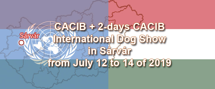 CACIB + 2-days CACIB International Dog Show in Sárvár from July 12 to 14 of 2019