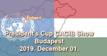 President's Cup CACIB Show – Budapest – 2019. December 01.