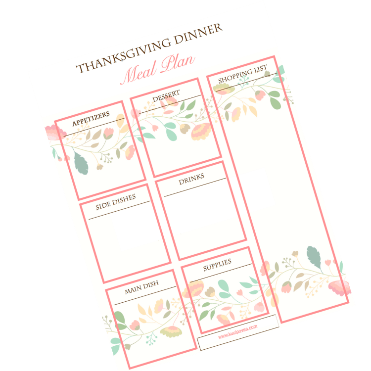 Stress Free Thanksgiving Planner and FREE Printable
