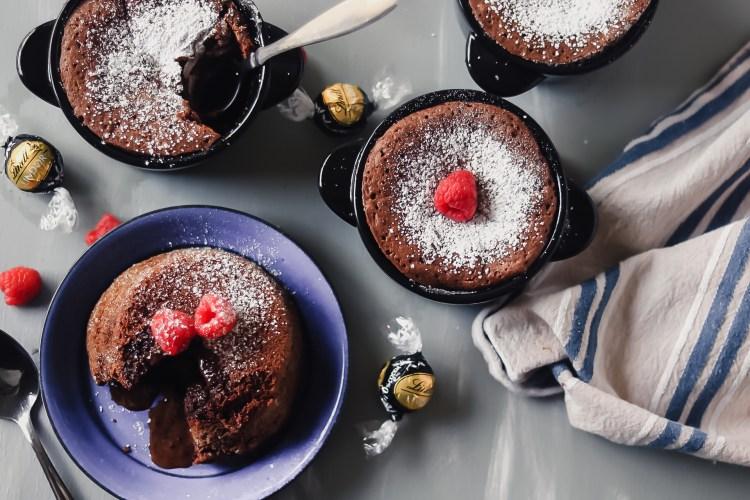 Molten Lava Cakes with Lindor Truffle Center
