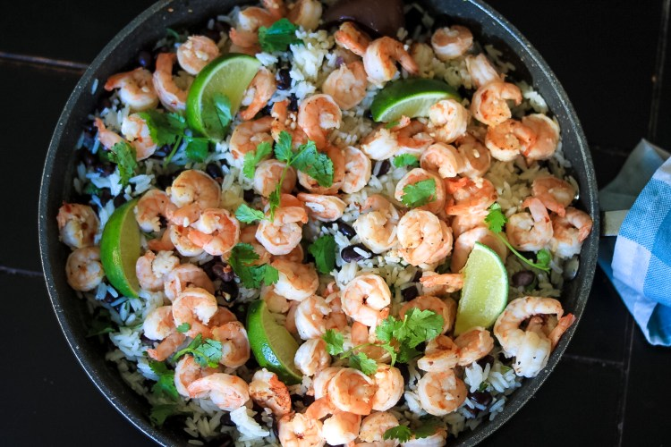 Cilantro Lime Shrimp and Rice