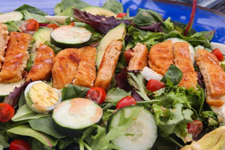 Summer Salad with Honey BBQ Dressing