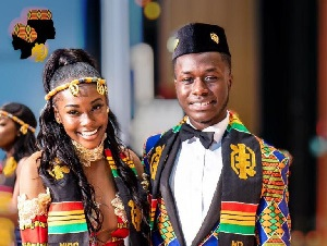 Dwayne Kobby Owusu And Whitney Tawiah. Photo: Attractive Mustapha