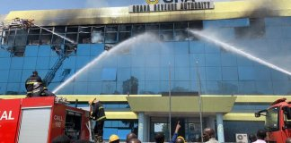 The Kwame Nkrumah Circle Office of the Ghana Revenue Authoruty was gutted by fire on December 1 2019