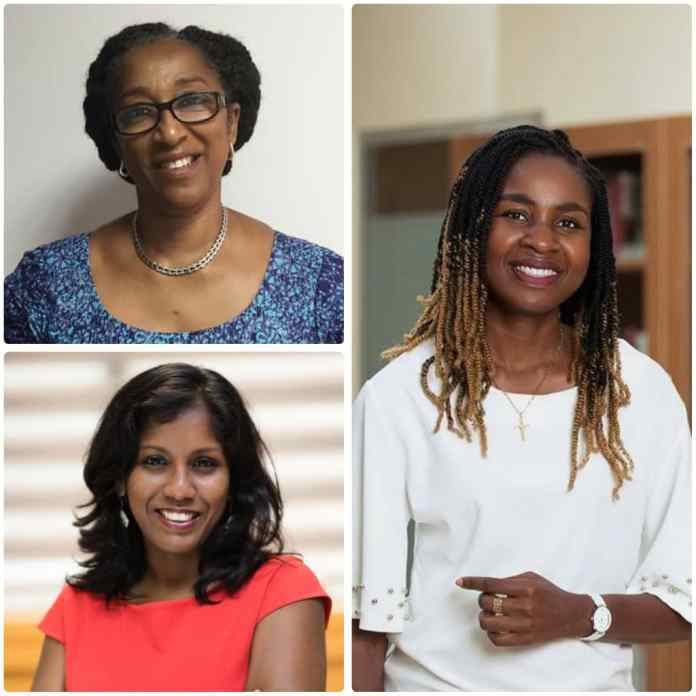 Coomerene Rodrigo, Dr Cynthia Forson and Jewel Enyonam Kpoh