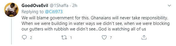 Reaction Of Ghanaians On Social Media About Monday's Dawn Flood.