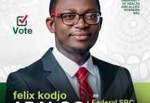 Felix Apaloo UHAS SRC president elect