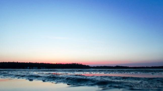 Kyrkösjärvi auringonlasku 28.3.2016 Tero Hintsa