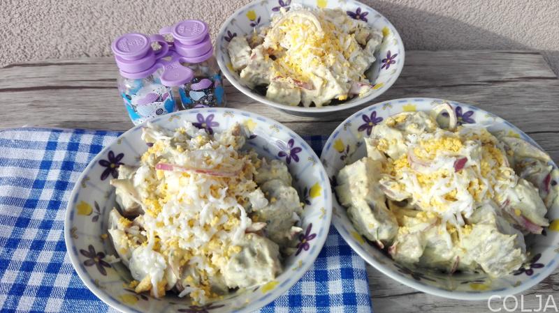 Juneća salata sa lukom