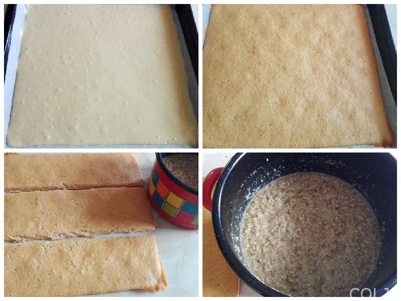Kolaž posna torta sa žitom