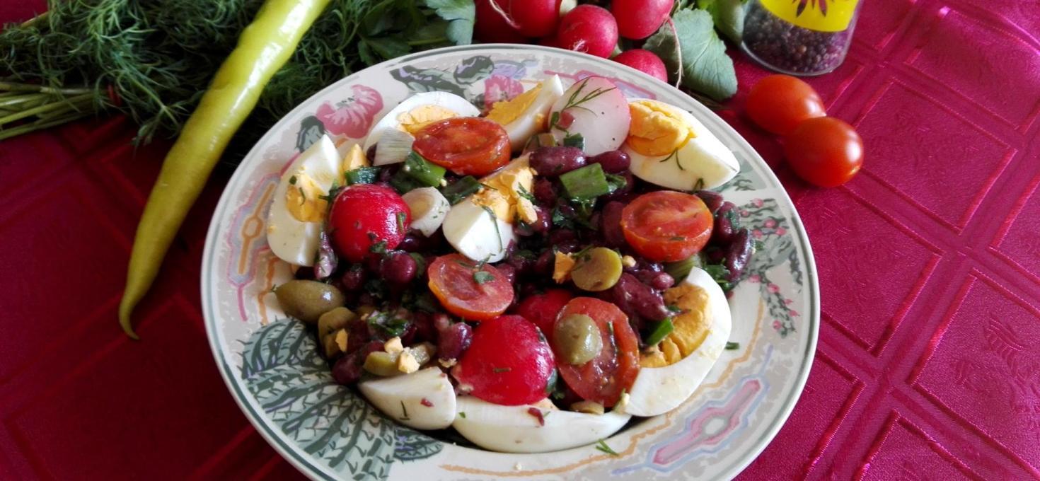 Salata od crvenog pasulja
