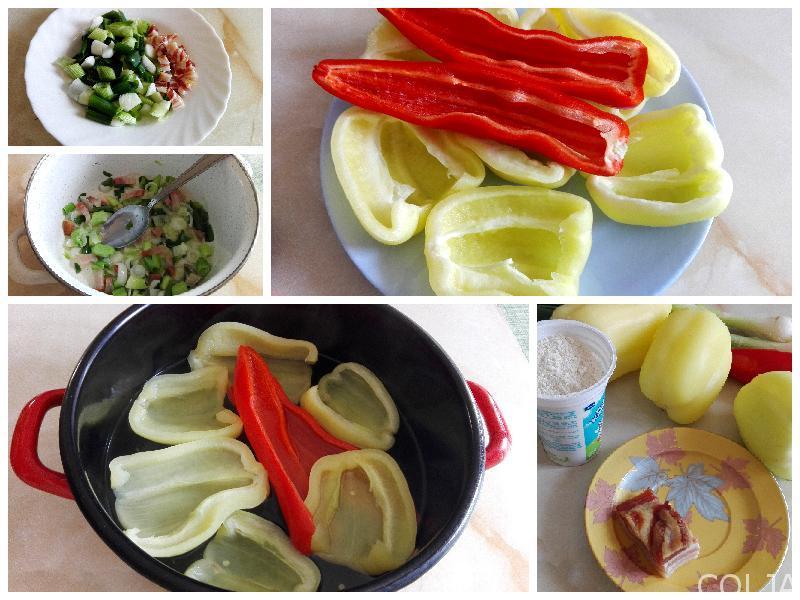 Kolaž paprike sa kukuruznim brašnom