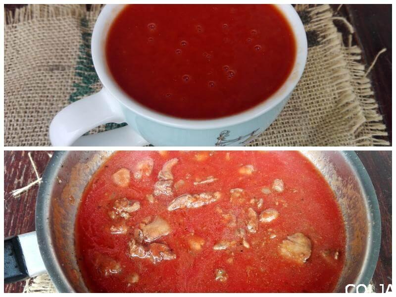 Kolaž paradajz sok