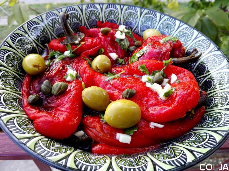 salata od paprika sa belim lukom