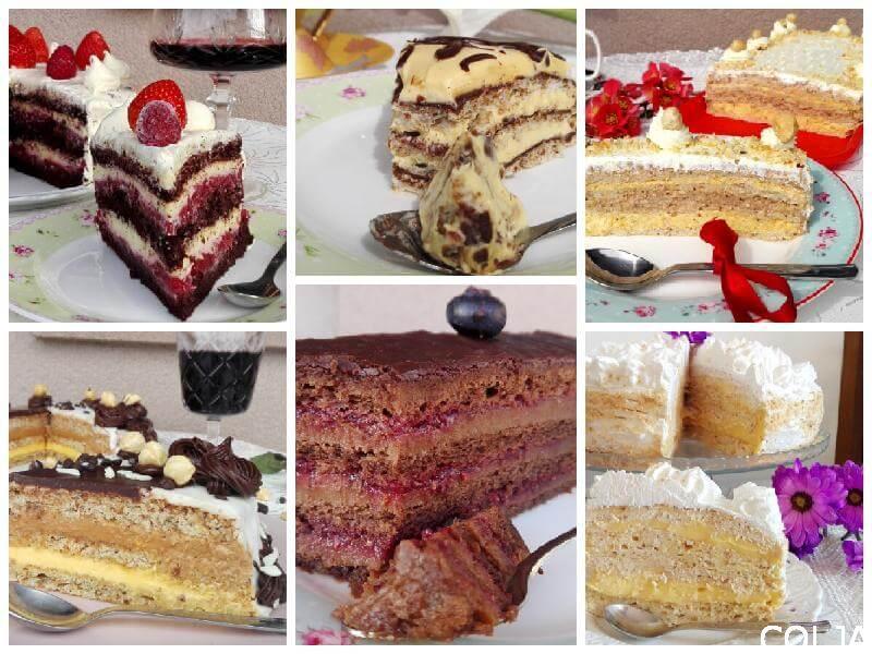 Kolaž praznične torte