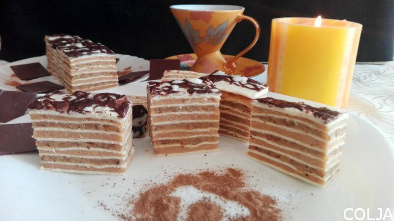 Rozen kolač sa belolm čokoladom