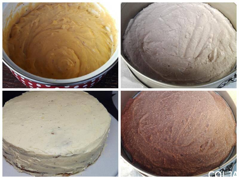 Torta sa lešnicima i karamelom kolaž