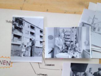 Oonan ja Saaran huomio: kuvissahan esiintyy sama (kuvitteellinen?) perhe! Ja kerrostalo!
