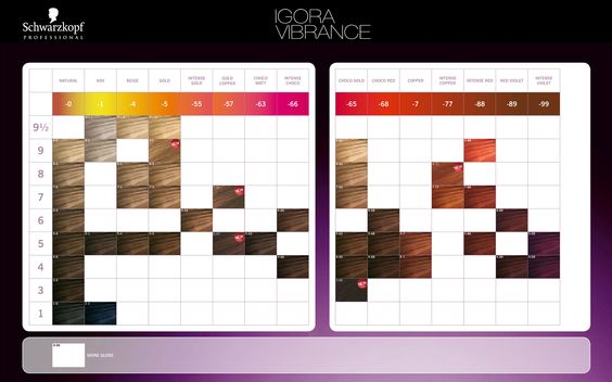 schwarzkopf gloss and tone color chart: Igora vibrance color chart igora vibrance gloss and tone color