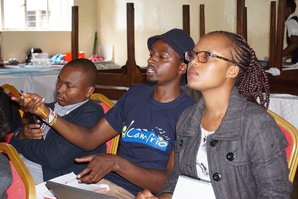 Kimutai at YESPeace Workshop