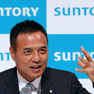 Takeshi Niinami, incoming president of Suntory Holdings Ltd., speaks during a news conference in Tokyo, Japan, on Tuesday, July 1, 2014. Suntory Holdings, the Japanese company that bought U.S. whiskey maker Beam Inc., hired Lawson Inc. Chairman Niinami as president. Niinami will become president on Oct. 1. Photographer: Yuriko Nakao/Bloomberg via Getty Images