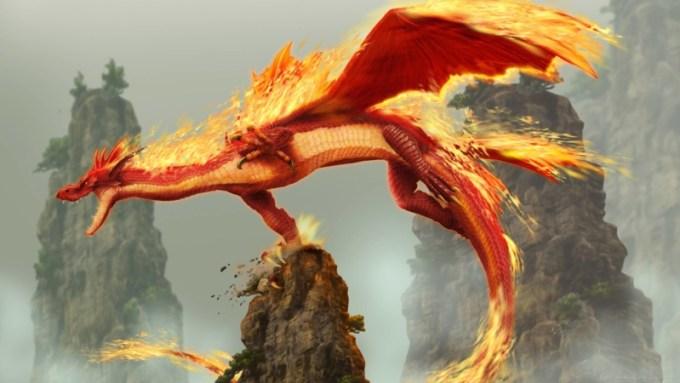 Penampakan Naga Api
