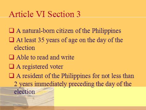 be a Philippine politician