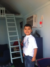 March: Jude got his playhouse from Make-A-Wish.