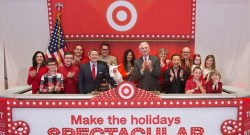 Target - On the ring at the New York Stock Exchange on black Friday
