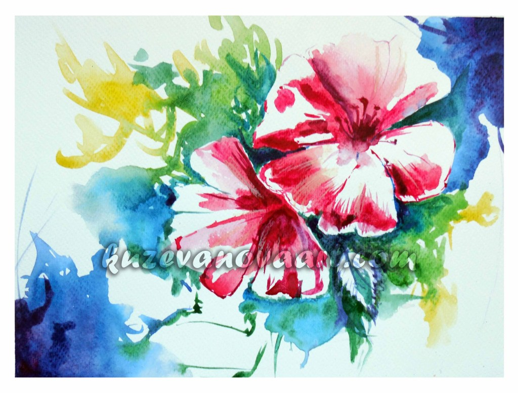 Flower sketching