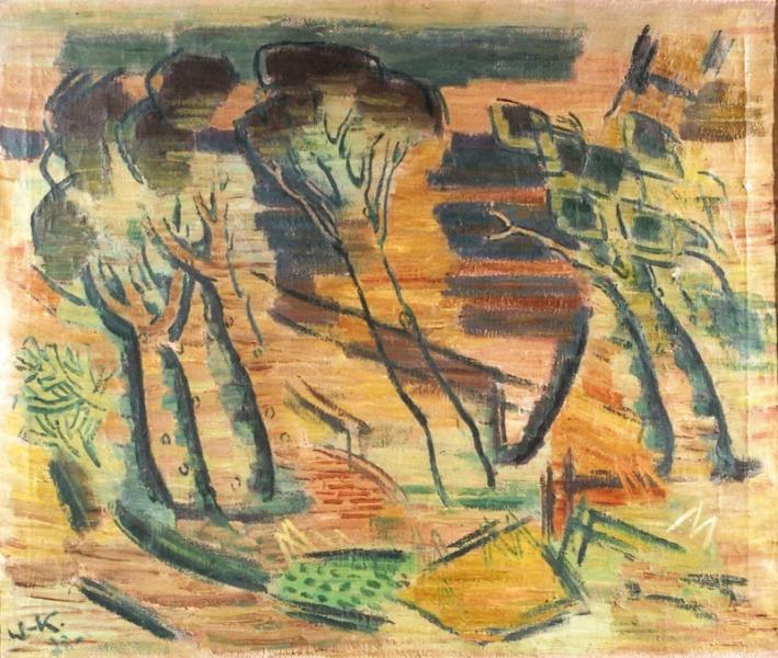 Янис Валтерс. Пейзаж с деревьями.