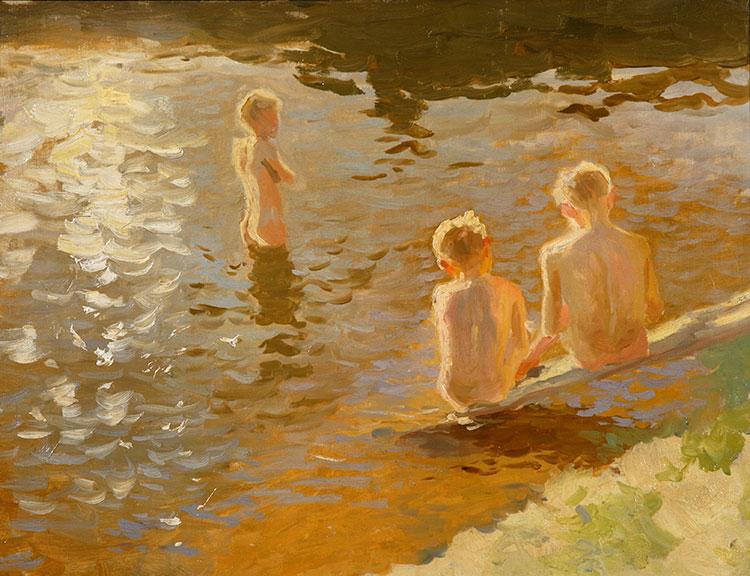 Янис Валтерс. Мальчики купальщики.