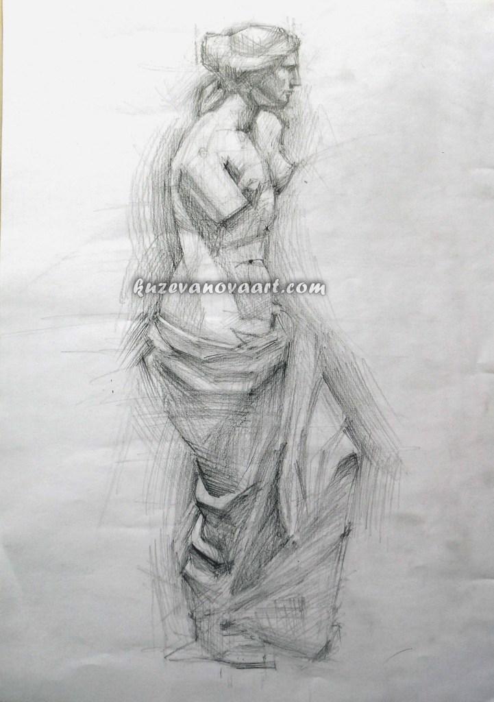 Studiju darbs. Aphrodites skulptūra.