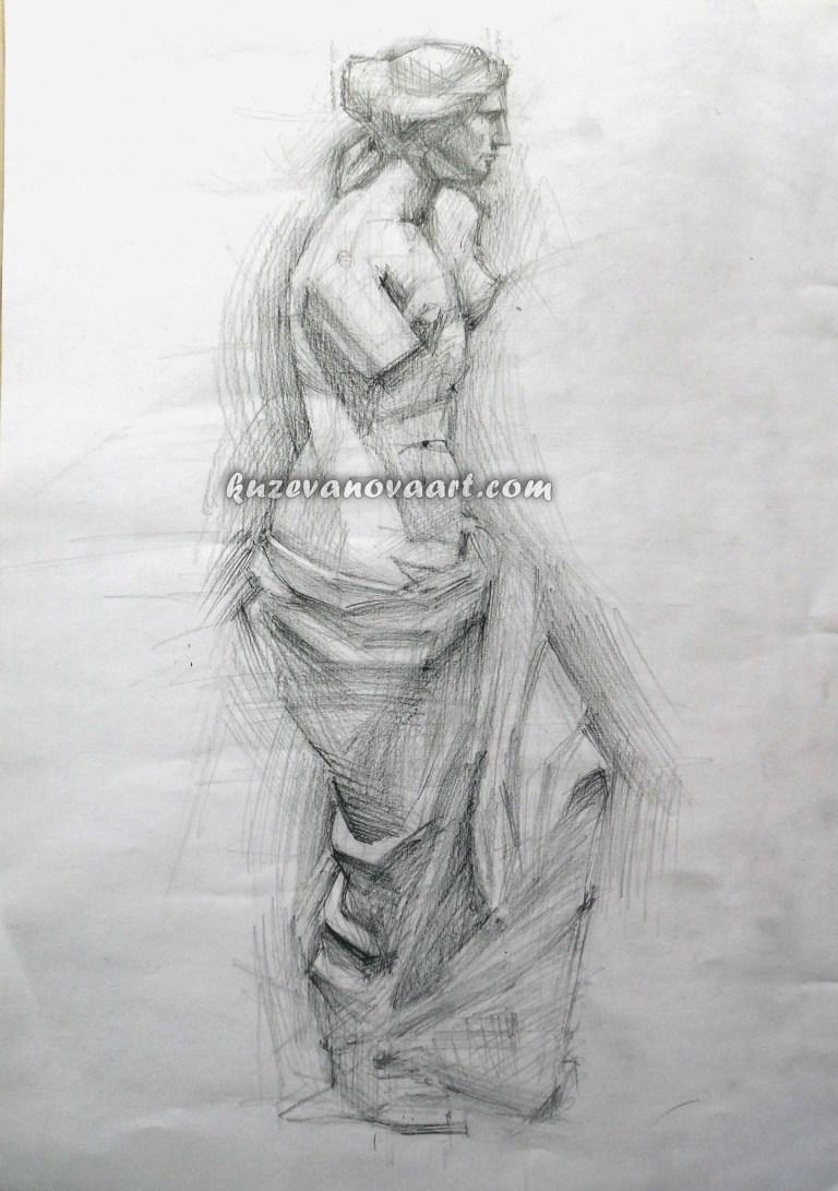 Учебная работа. Статуя Афродиты.
