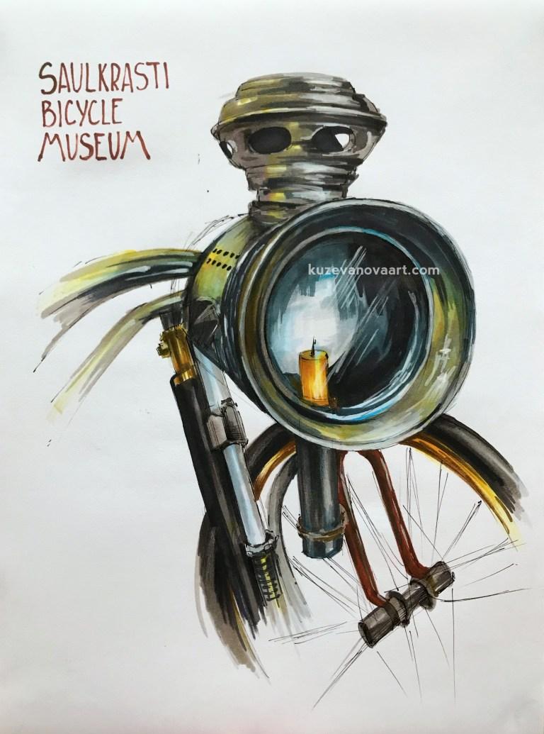Музей велосипедов в Саулкрасты
