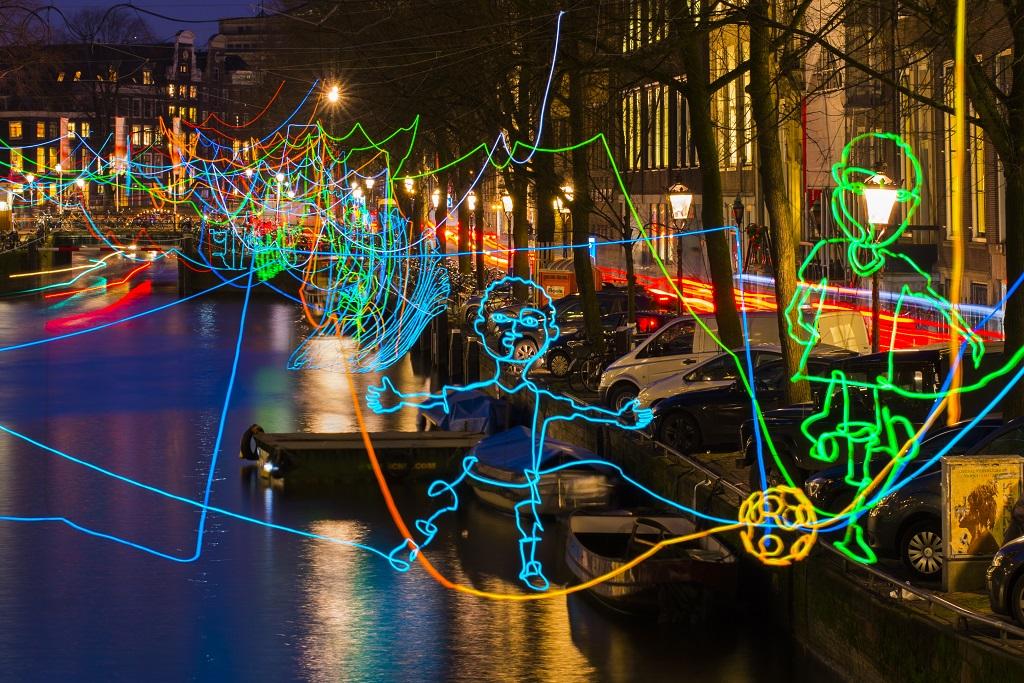 amsterdam ışık festivali
