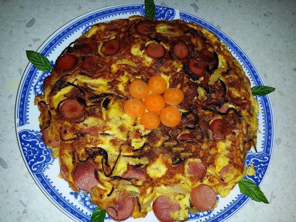 omlete me qepe dhe kremvice