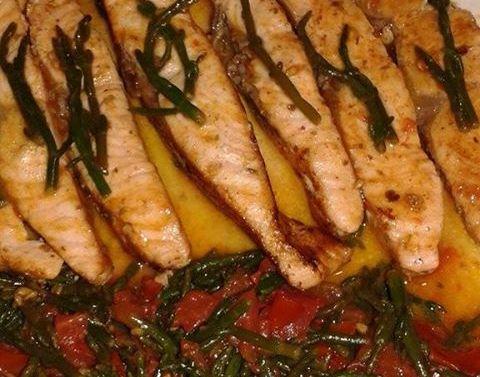 salmon me asparag deti