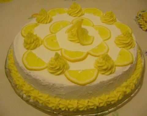 torte me krem limoncele