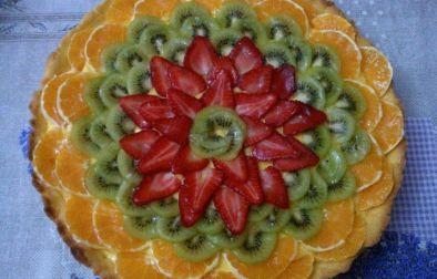 torta krem fruta
