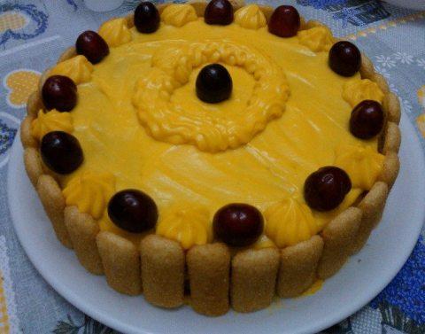 torte krem qershi
