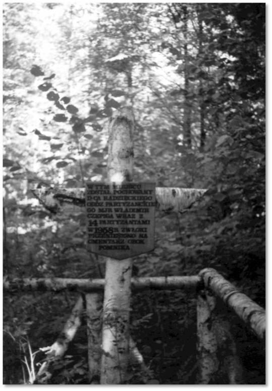 Symboliczny grób Włodzimierza Czepigi na Porytowym Wzgórzu