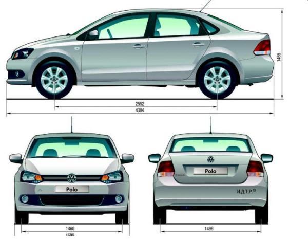 Фольксваген Поло в новом кузове: размеры, цвета, длина и ...