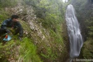 雪渓&垂直梯子 八幡平・茶釜の滝
